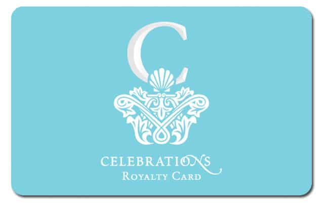Introducing the Celebrations Royalty Card