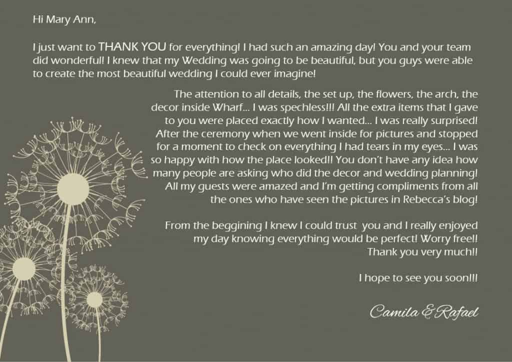 ☆ thank you note