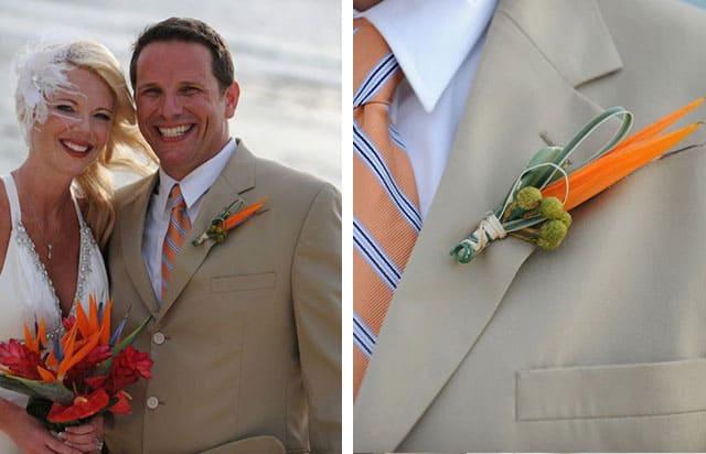 Tan Suit For Destination Wedding 1