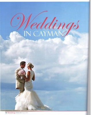 wedding in cayman