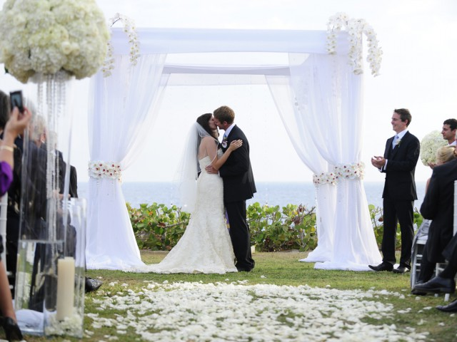 Enchanting White Cayman Wedding