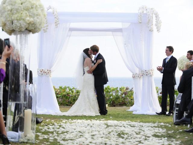 Enchanting White Cayman Wedding