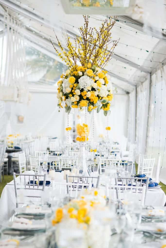 Featuring Yellow Peaks of Floral on Krissy & Kyle's Special Day