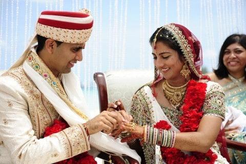 indian cayman islands caribbean wedding ceremony