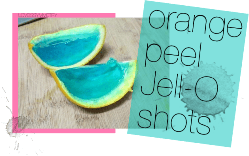 BEACH PARTY IDEAS: JELL-O SHOTS IN ORANGE PEEL