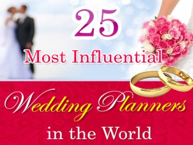 Celebrations Ltd named ONE OF TOP 25 MOST INFLUENTIAL WEDDING PLANNERS IN THE WORLD