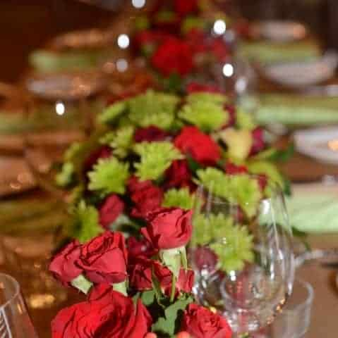 Red Oceanside Wedding