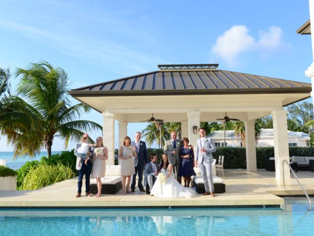 delicate beach wedding