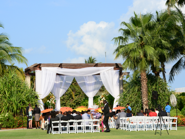 Orange Cayman Wedding