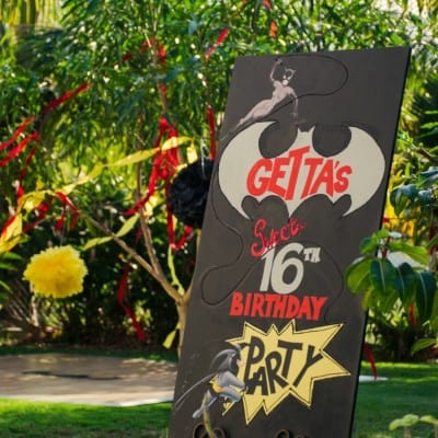 BATMAN THEMED SWEET 16 BIRTHDAY PARTY BY CELEBRATIONS