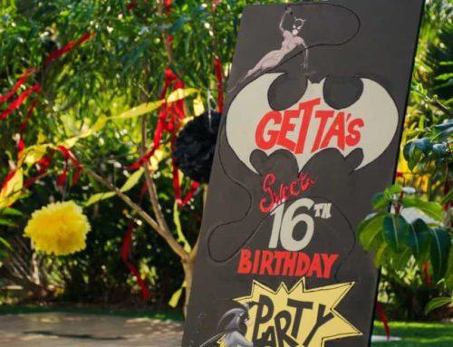 BATMAN THEMED SWEET 16 BIRTHDAY PARTY BY CELEBRATIONS