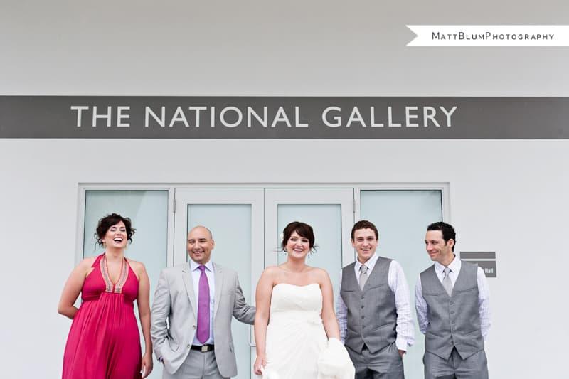 Modern Gallery Wedding in the Cayman Islands