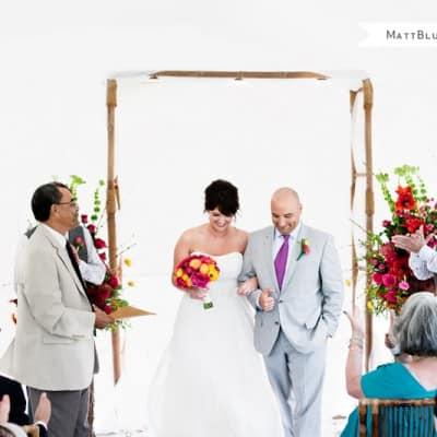 Modern Gallery Wedding in Cayman
