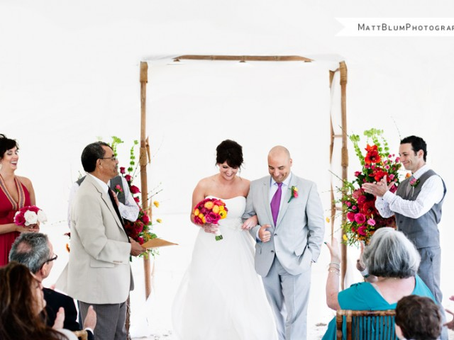 Modern Gallery Wedding in Cayman