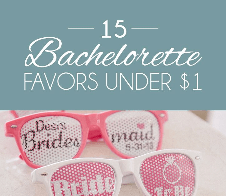 15 CHIC AFFORDABLE BACHELORETTE FAVORS