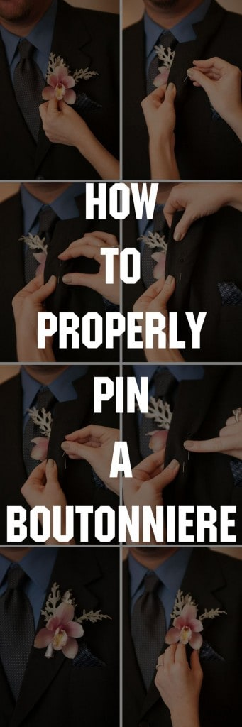 PROM WEEK! CELEBRATIONS SHOWS YOU HOW TO PROPERLY PIN A BOUTONNIERE!