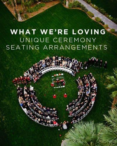 10 unique wedding ceremony seating ideas celebrations blog 10 unique wedding ceremony seating ideas junglespirit Images