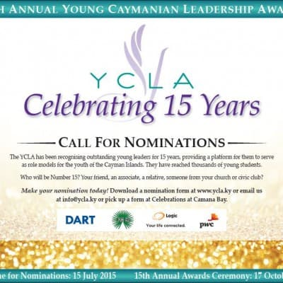 CELEBRATIONS LTD IS A PROUD SUPPORTER OF THE YOUNG CAYMANIAN LEADERSHIP AWARDS (YCLA)