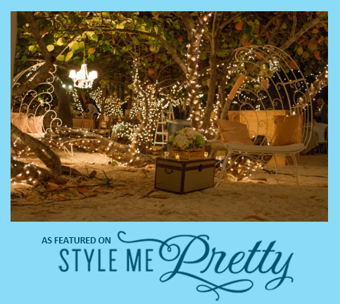 TWINKLING EVENING WEDDING RECEPTION UNDER THE STARS *AS FEATURED BY STYLE ME PRETTY*