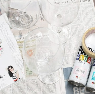 EIGHT AWESOME IDEAS THAT TURN YOUR WINE GLASSES INTO DECORATIVE STATEMENT PIECES