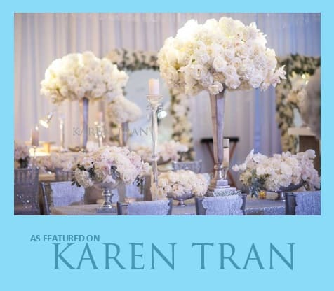 OUR FLORAL AND DESIGN PRODUCTION WORK FOR THE LOVELY KAREN TRAN