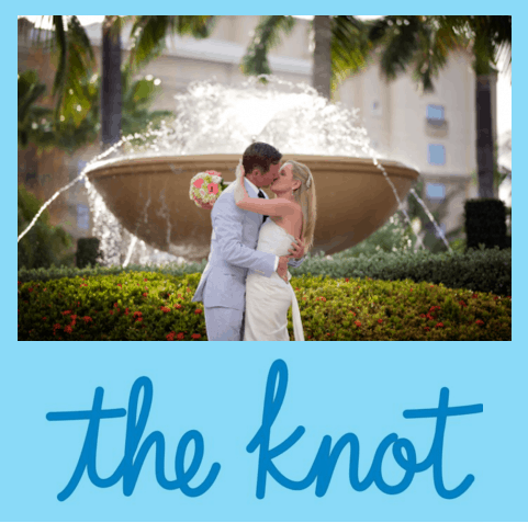 CORAL, BLUE & WHITE ISLAND WEDDING – *AS FEATURED BY THE KNOT*
