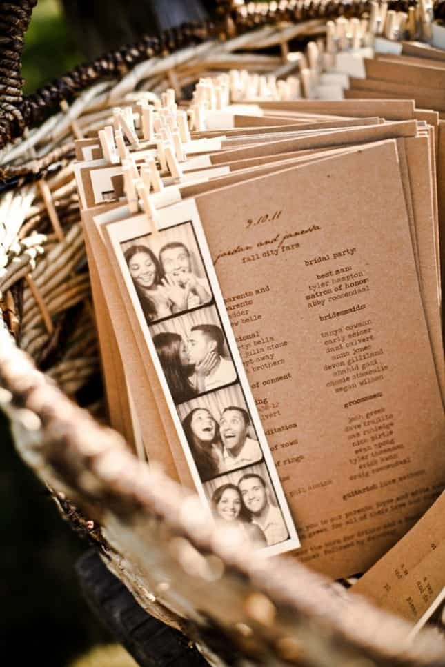 15 Non Traditional Wedding Programs Celebrations Blog