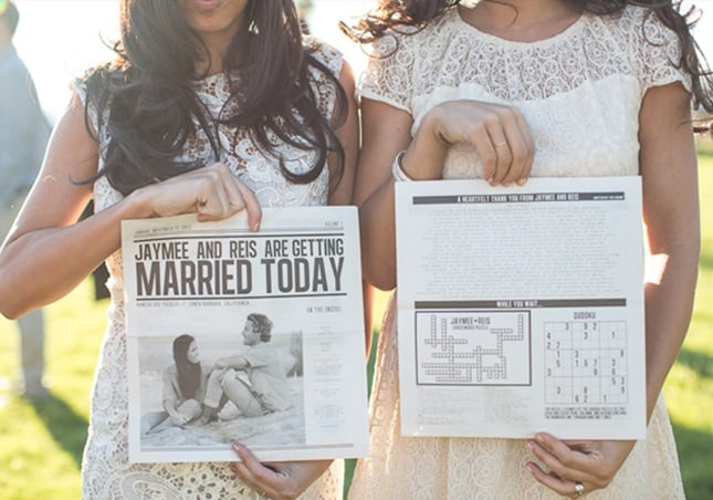 15 NON-TRADITIONAL WEDDING PROGRAMS - Celebrations Blog ...