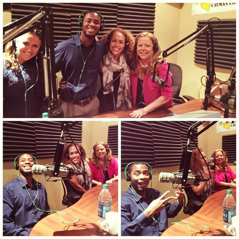 CELEBRATIONS CONTEST WINNERS JADE & CUEME ON RADIO ROOSTER WITH CEO JOANNE BROWN