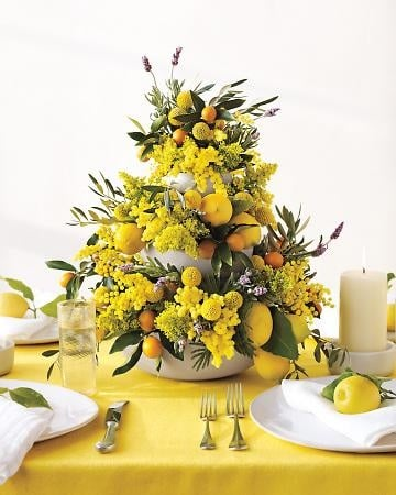 CITRUS TABLE ARRANGEMENTS THAT WILL INSPIRE YOUR SUMMER HOSTING
