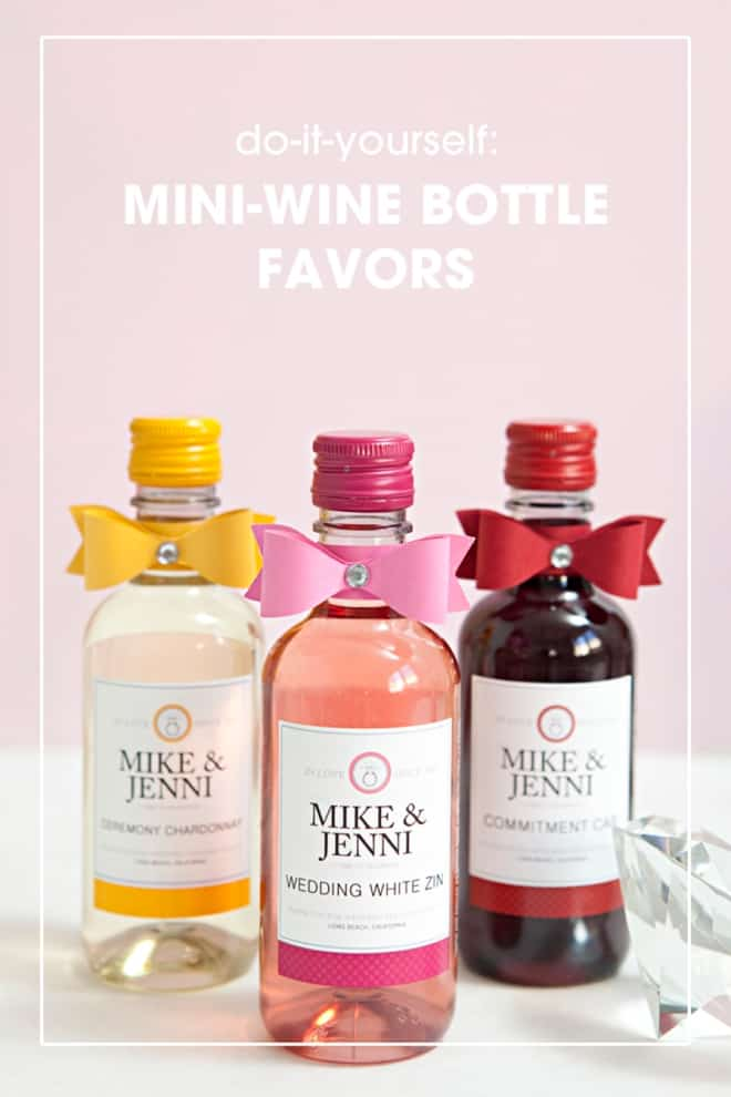 DIY MINI WINE BOTTLE FAVORS