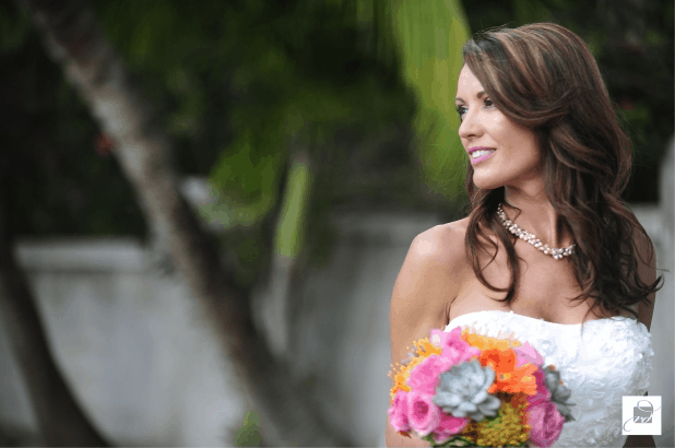 OUR BEAUTIFUL VIBRANT BOUQUET & FLORAL ACCENTS FOR MARY & MATT'S BEACH WEDDING
