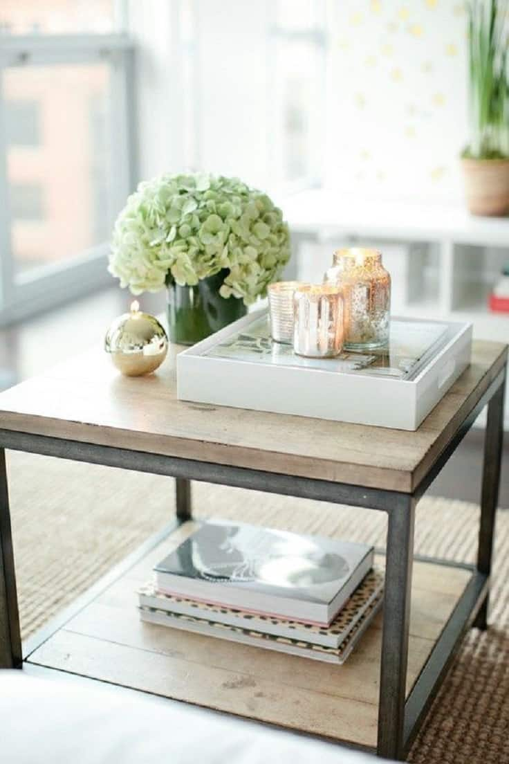 Simple-coffee-table-decor