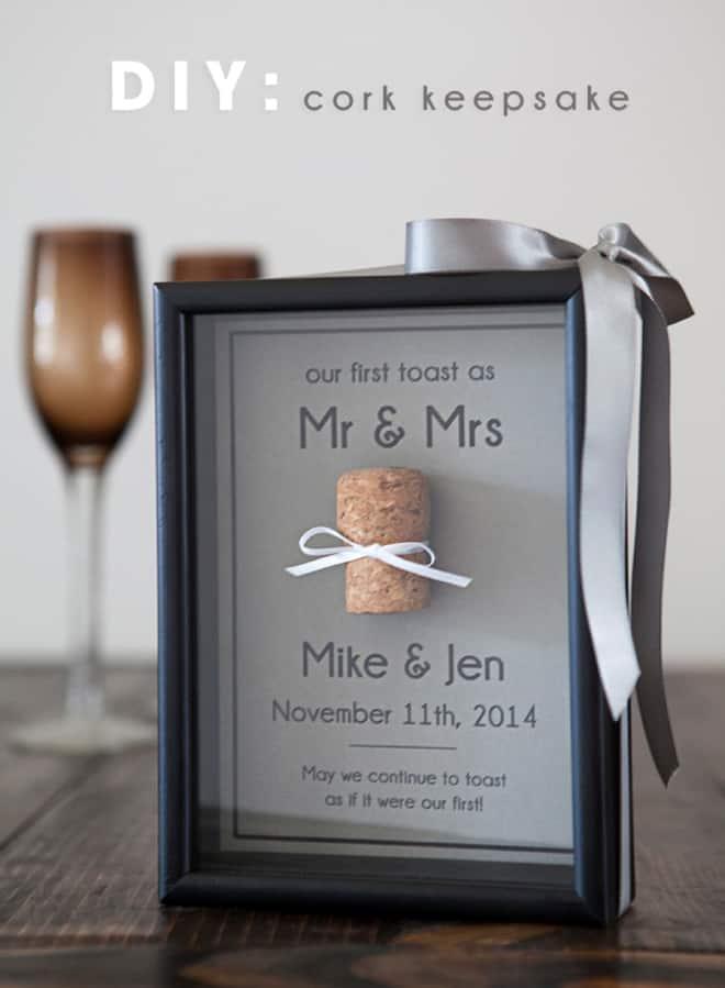 save your wedding cork with this cork keepsake diy - Wine Cork Picture Frame