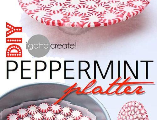 60 SECOND DIY: PEPPERMINT PLATTER!