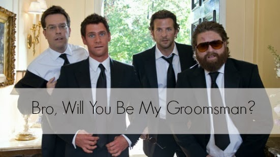 "PERFECT ""WILL YOU BE MY GROOMSMAN"" IDEAS!"