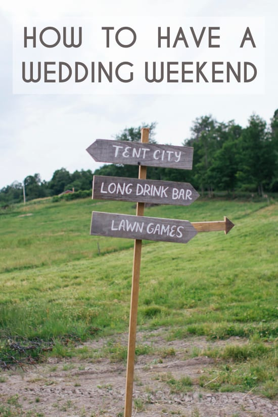 HOW TO HAVE A WEDDING WEEKEND!