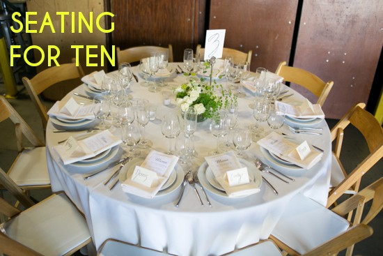 Note how close the place settings and the chairs are to each other. Yes ten people is really the maximum you can put at a 60\u2033 round\u2014there\u0027s simply not ... & SEATING CHART TIPS THAT WON\u0027T MAKE YOU CRY - Celebrations Blog ...