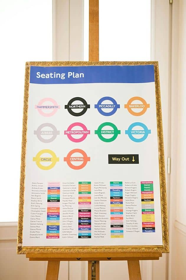FIFTEEN UNIQUE SEATING CHARTS TO WELCOME YOUR GUESTS - Celebrations ...