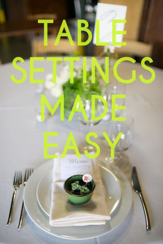 TABLE SETTINGS MADE EASY