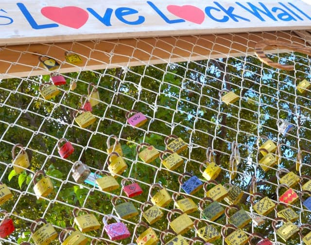 "CELEBRATIONS ""LOVE LOCK WALL"" PERMANENTLY INSTALLED AT THE CAYMAN TURTLE FARM"