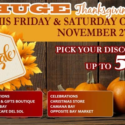 THANKSGIVING SALE IS ON AT CELEBRATIONS STORES!