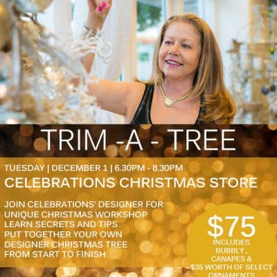 TRIM-A-TREE WORKSHOP  ON DECEMBER 1ST – IT'S A DATE!