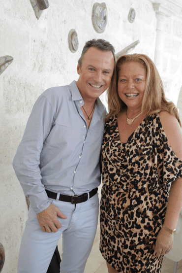 CELEBRATIONS VERY OWN JO ANNE V. BROWN & COLIN COWIE WITH CARIBBEAN BRIDE MAGAZINE