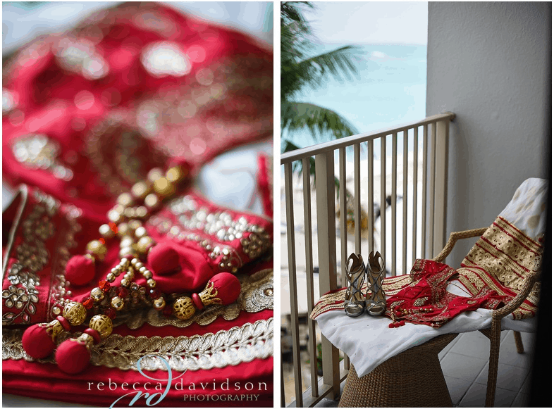 Some traditional Indian Wedding Dress and Accessories from the wedding of Amee & Mihir in the Cayman Islands