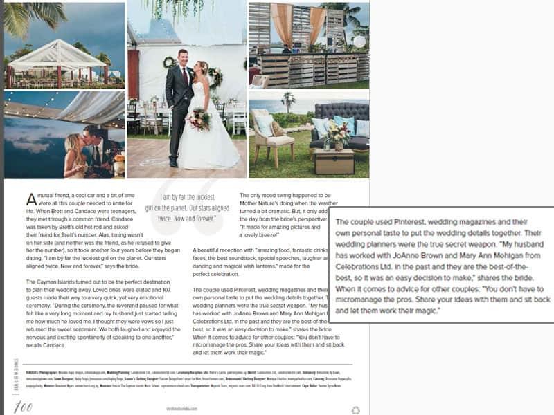 luxury destination wedding in the cayman islands
