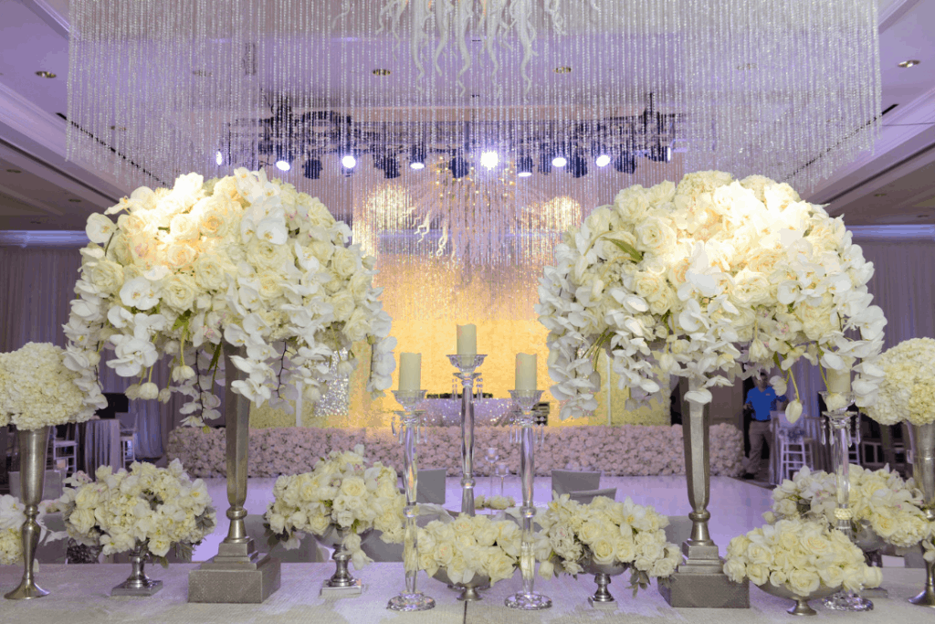 LUXURIOUS ORCHID FILLED DESTINATION WEDDING SET UP BY CELEBRATIONS LTD.