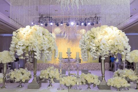 Destination wedding full of Phalaenopsis Orchids