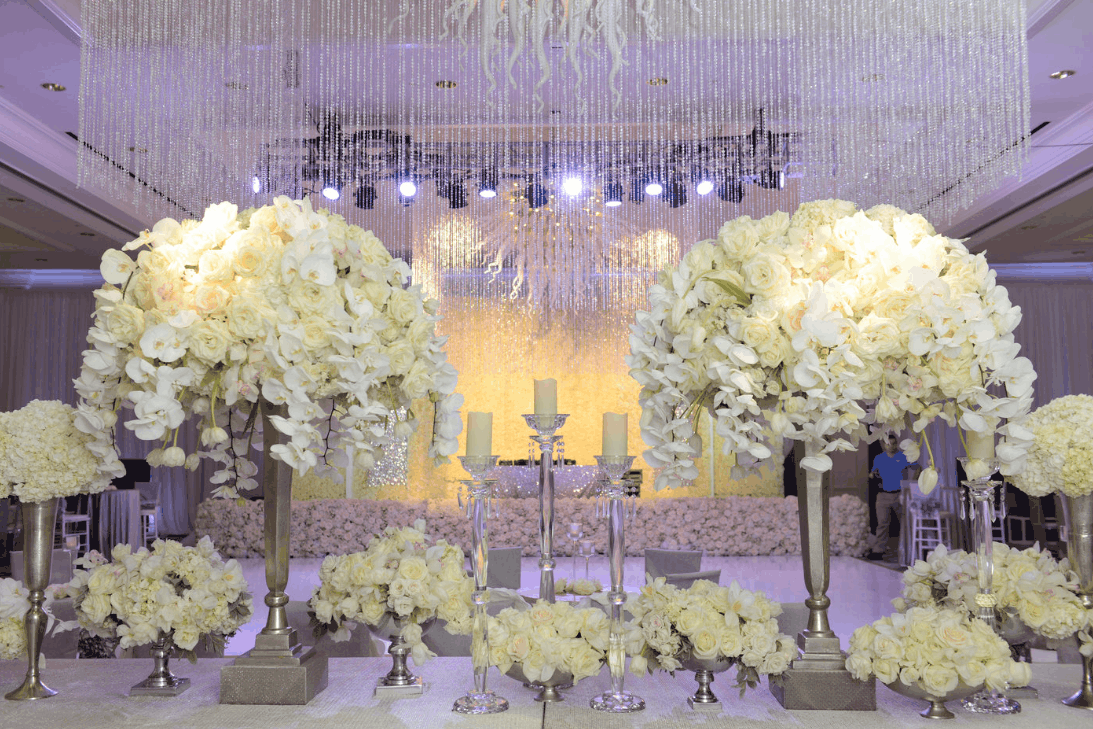 Destination wedding full of Phalaenopsis Orchids