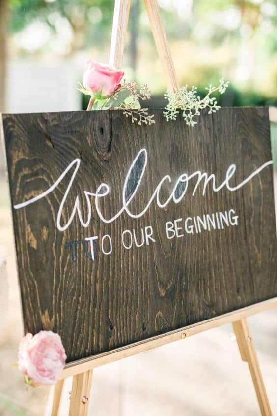 rustic welcome wedding signs